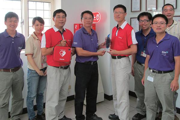 AED出任務 清水廠團隊救援成功