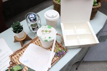 中華紙漿「益利(EASY)系列」非塑食安用紙  一站式全紙回收紙容器解決方案